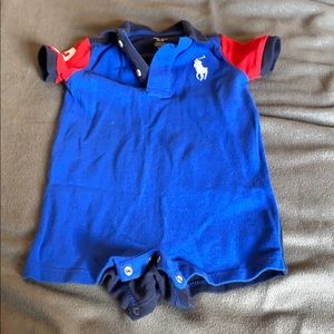 Mesh Polo Ralph Lauren Shortall color block